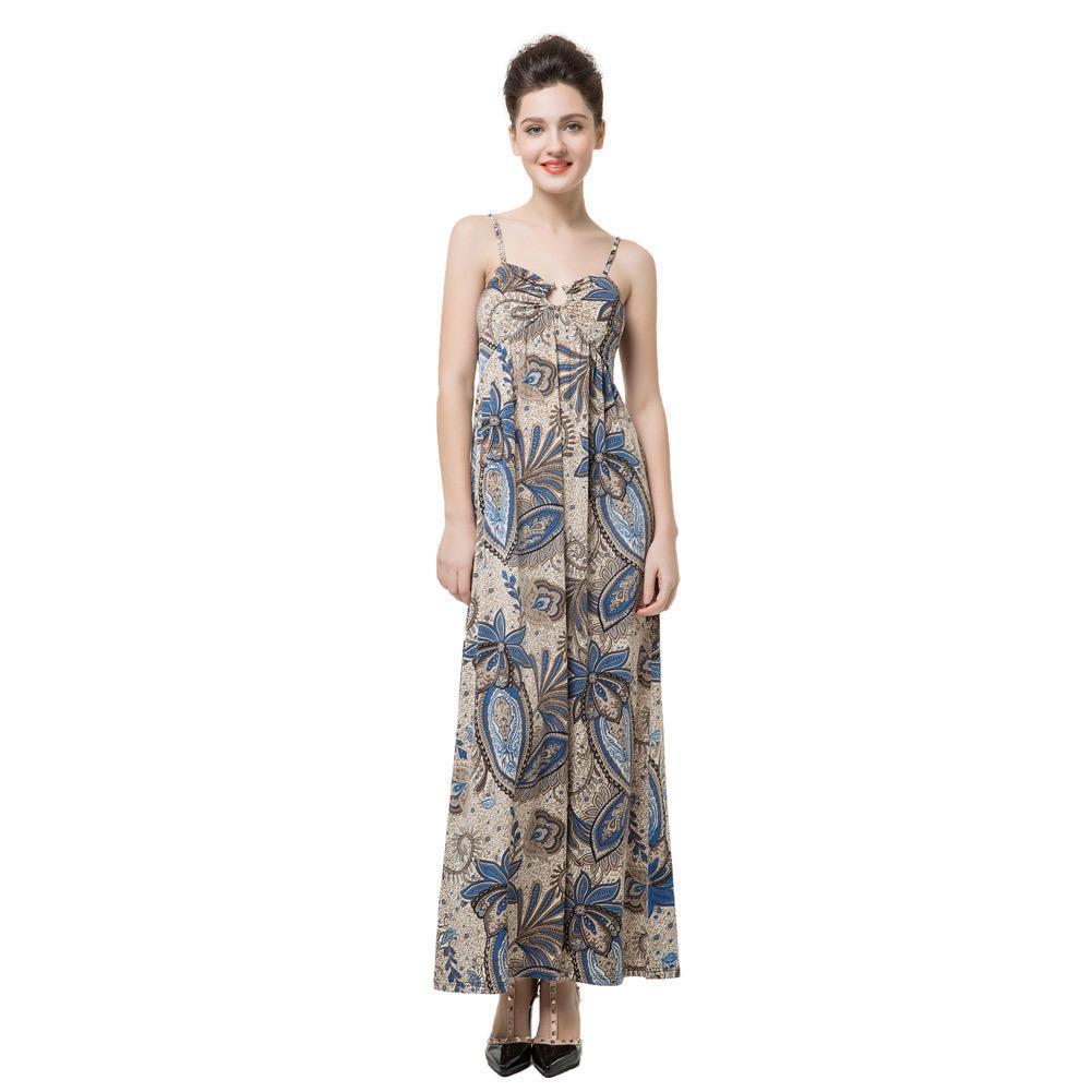 7546c36a1f6b 2019 New Elegant Women Maxi Dress Floral Print V Neck Long Slip Dress Light  Padded Spaghetti Strap Party Dresses Blue Vestidos Long Maxi Summer Dresses  ...