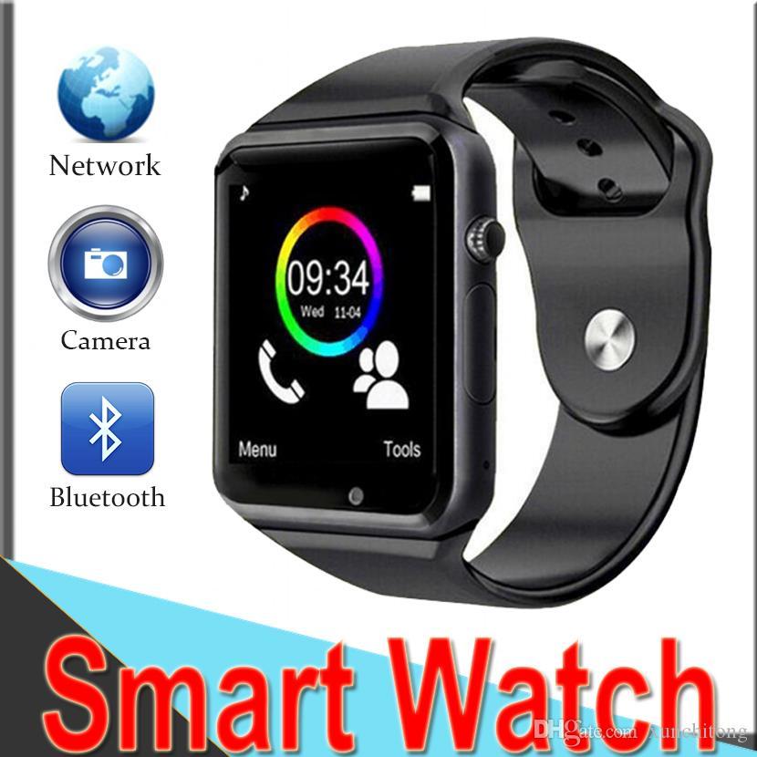 e28515bf1 Relojes Ice SmartWatch A1 Apple Watch Bluetooth SmartWatch Reloj De Pulsera  Sport Podómetro Llamadas Con SIM Cámara Reloj Inteligente Para Teléfono ...