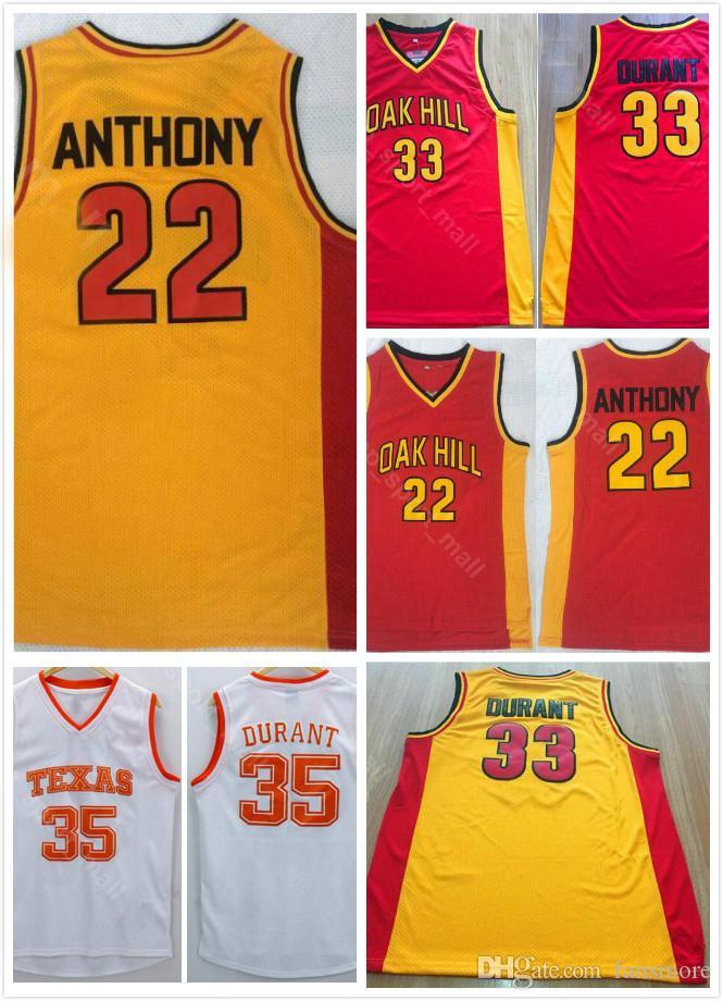 2c69c47c Compre Mens Texas Longhorns College Basketball Jersey Kevin Durant 35 Lamarcus  Aldridge Escuela Secundaria Oak Hill 22 Syracuse Orange Anthony A $14.21  Del ...