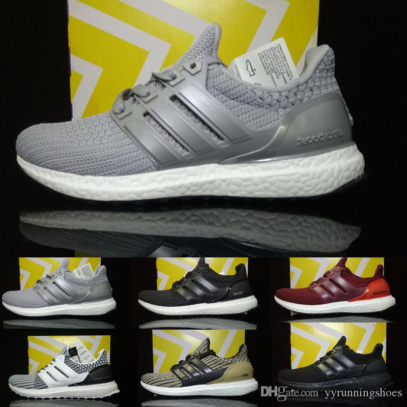 quality design 27976 d6384 2018 High Quality Ultra Boost 4.0 3.0 Black White Primeknit Ultra Boosts 3  III Grey Men Running Shoes Ultraboost 3 4 Women Sport Sneakers