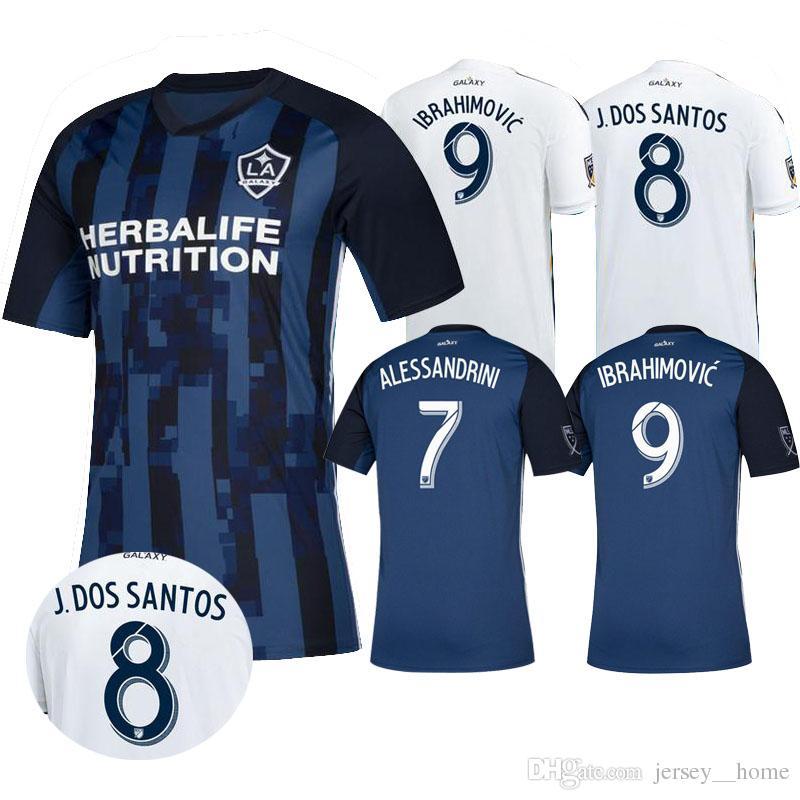 b3236bb058 Compre LA Galaxy Camisa De Futebol 2019 GERRARD 2020 Los Angeles Galaxy Camisa  Camisas De Futebol De Alta Qualidade IBRAHIMOVIC GERRARD GIOVANI ZARDES ...