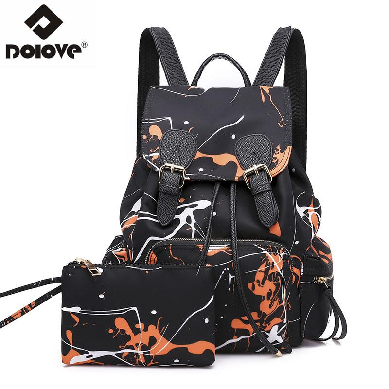 b6de16b5fec5 DOLOVE 2018 Fashion New Style Women S Backpack