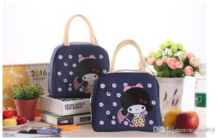 2e417f129e9 Cartoon Girl Lunch Box Handbag Oxford Cloth Heat Preservation Bag Lunch Box  Fresh Box Accessories for Girls Backpack Kids Bags Online with  5.78 Piece  on ...