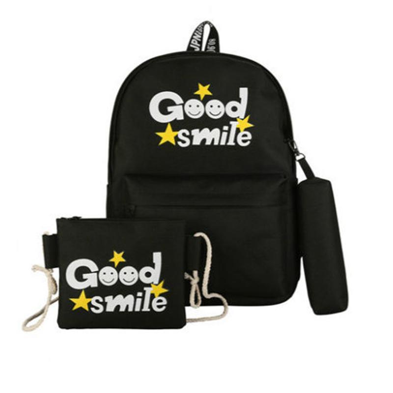 838fb5cbb462 2018 New Style Fashion Set Women Girls Travel Canvas Rucksack Backpack Tote  School Backpacks Swiss Gear Backpack Osprey Backpacks From Finallan