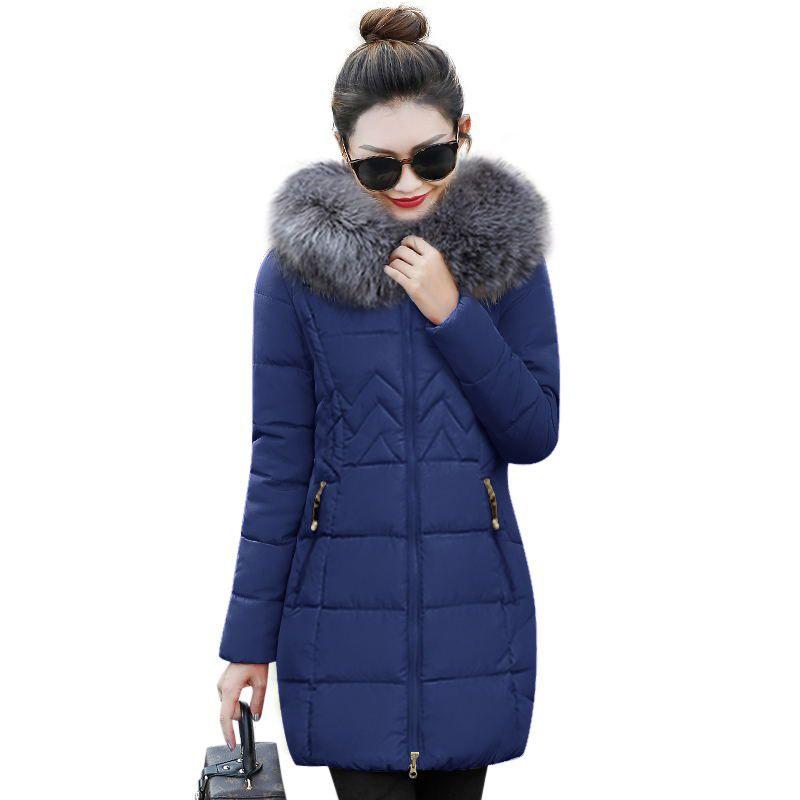 Parkas Big invierno grueso para Mujer de invierno de Fur Chaqueta Chaqueta mujer Parkas Mujer Abrigo Outwear algodón 2019 mujer de New de Para QdBreWCxo