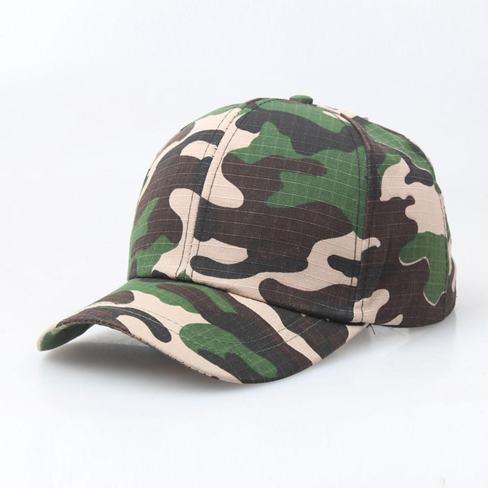 39a952b63c2 Adjustable Outdoor Camo Tactical Cap Women Men Plain Vintage Army ...