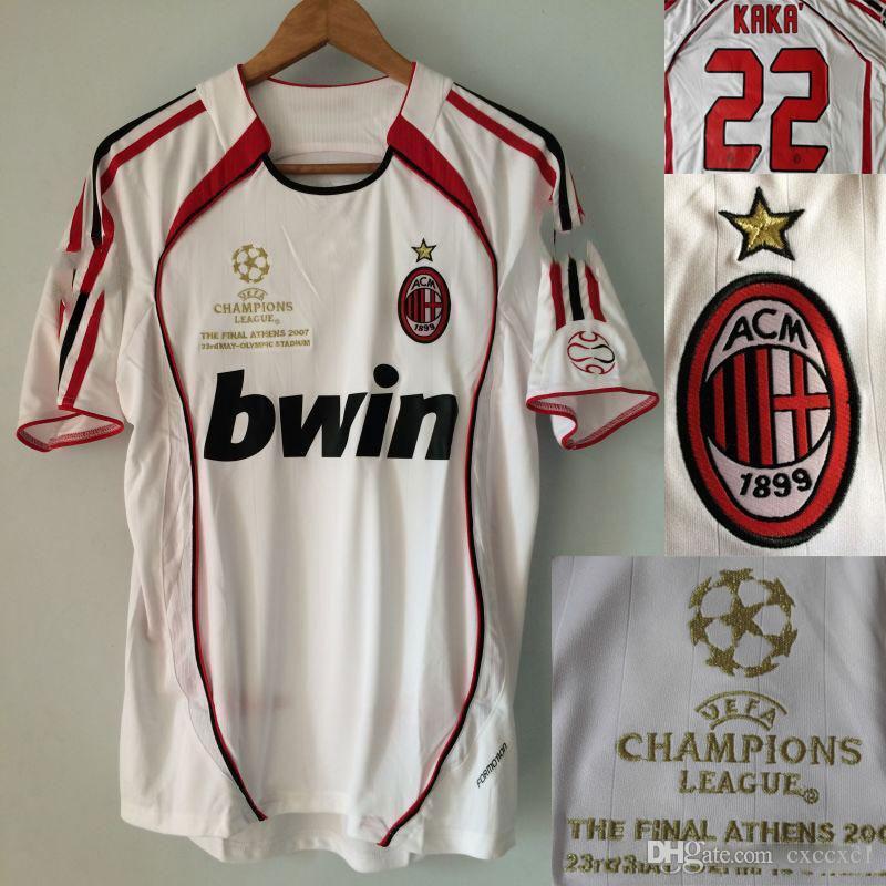 Compre 06 07 Retro Jersys AC Milan KAKA Maldini Inzaghi Pirlo Seedorf  Gattuso Nesta 2006 AC Milan Ronaldo UCL Camisetas De Fútbol Vintage Finales  A  30.78 ... 822d010f798b2
