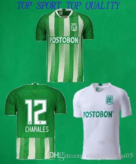 171a4cd2e 2019 19 20 Atletico Nacional Medellin Soccer Jersey Colombia Club Medellin  Home Green Football Tops Away White Sports Uniform Football Shirt From ...