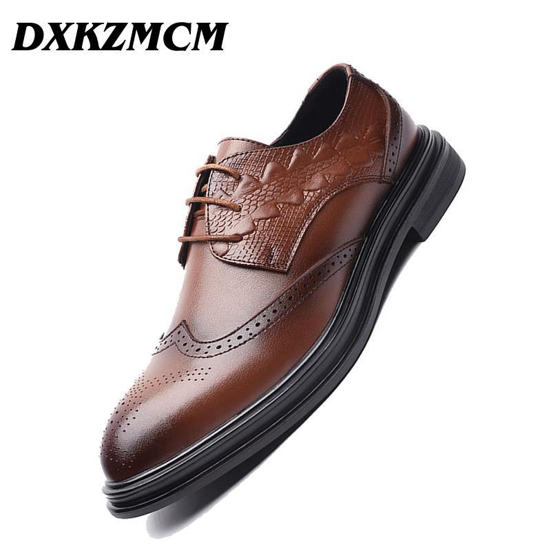 cbf5867f93315 DXKZMCM Handmade Men Flat Leather Men Oxfords
