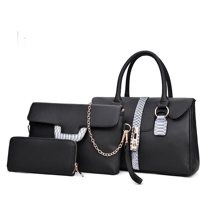 788b7b4f2b44 Women Bag Set Leather Handbags Female Tote Bags Single Shoulder Messenger Bag  Crossbody Bags For Women Messenger Clutch Purse Duffle Bags Clutch Bags  From ...