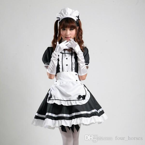 Japanese Best-Selling Fancy Girls Alice In Wonderland Fantasy Blue Light Tone Lolita Maid Outfit Maid Cosplay Costume Maid Dress