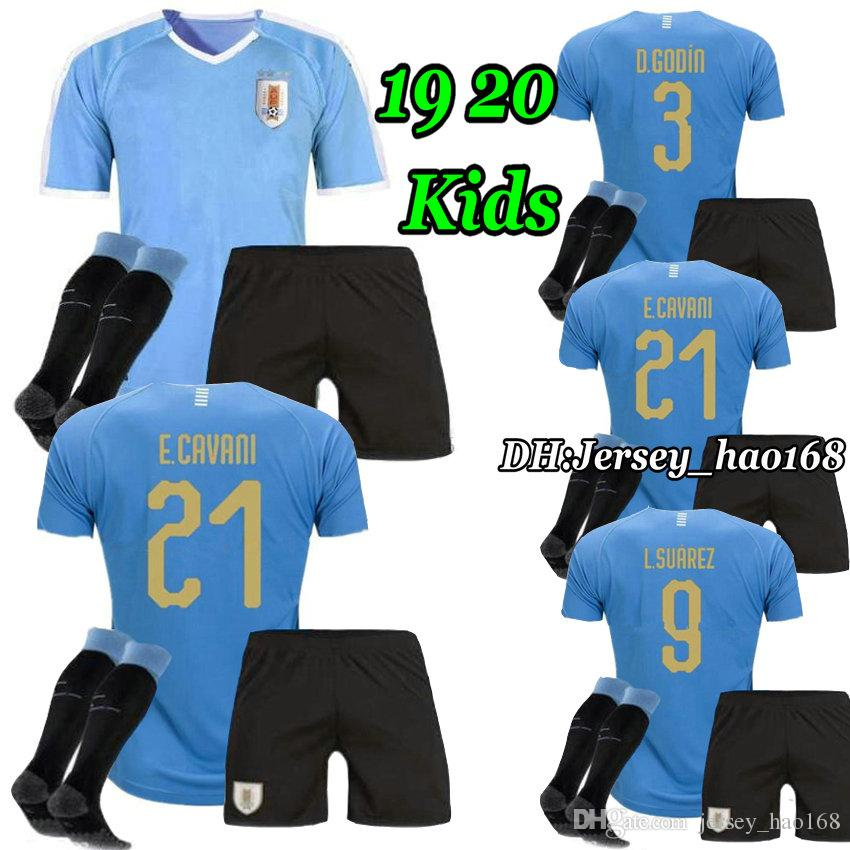 online store a35f3 a2d72 Uruguay Kids kits 2019 URUGUAY jersey Kids Kit SUAREZ Soccer Jerseys  D.GODIN E.CAVANI URUGUAY Home football shirt 19 20 Boys kit