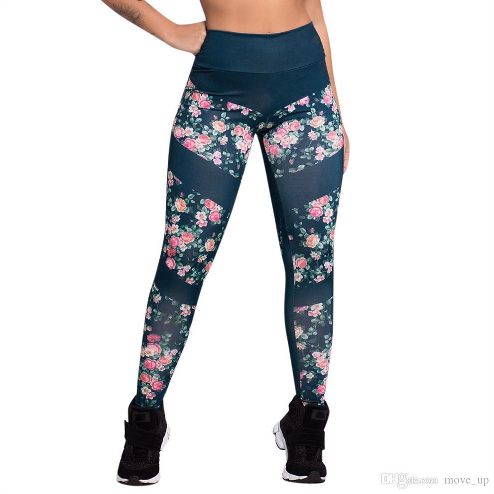 dd83ebf2dbd95 2019 Perimedes Women'S Yoga PantPrint High Waist Leggings Romantic Printed Running  Sports Gym Yoga Athletic Pants#G25 #515678 From Move_up, $29.33 | DHgate.