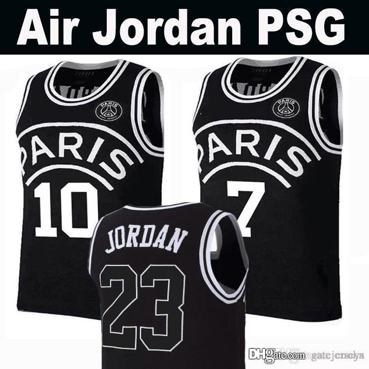 huge discount 015fc 0e807 New 2019 PSG Paris Jersey 23 Michael JD 10 NEYMAY JR 7 MBAPPE Paris  Basketball Jerseys Black Wholesale Mix Order Fast Shipping