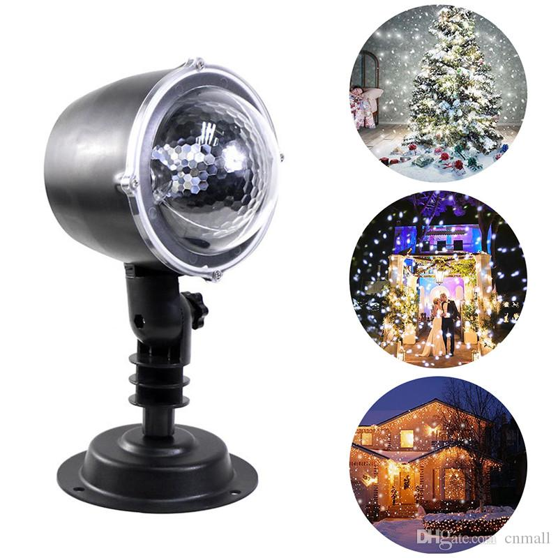 Christmas Snowflake Laser Light Snowfall Projector IP65 Moving Snow Outdoor Garden Laser Projector Lamp For New Year Party