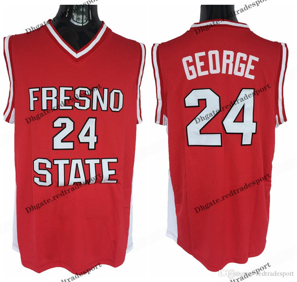 163555315701 2019 Mens Fresno State Bulldogs  24 Paul George College Basketball Jerseys  Cheap Paul George Home Red Stitched Shirts S XXL From Redtradesport