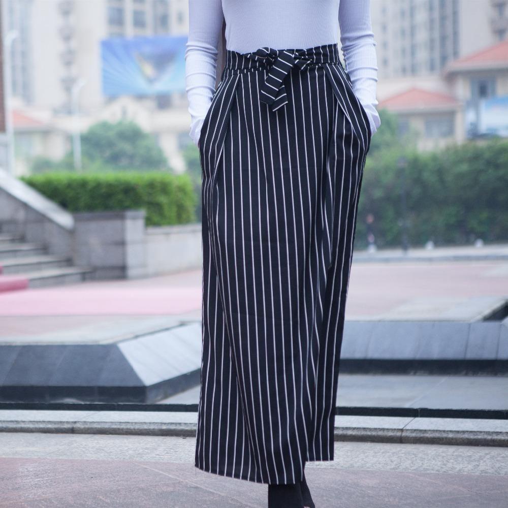 5af96df21e5 Compre Faldas Mujer Moda Mujer Faldas De Verano Faldas Largas A Rayas  Musulmán Jupe Longue Femme Dubai Falda Islámica Turca Con Bolsillos A   26.95 Del Pakis ...