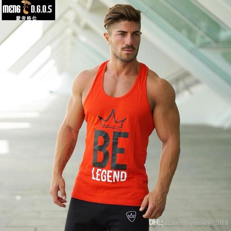 79d493a4cff 2019 Brand Mens Top Tank Summer Cotton Slim Fit Men Tank Tops Clothing  Bodybuilding Tank Top Men Undershirt Golds Fitness Tops Tees  105737 From  ...