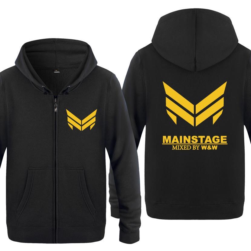 DJ MainStage Rock Band Sweatshirts Men 2018 Mens Zipper Hooded Fleece  Hoodies Cardigans