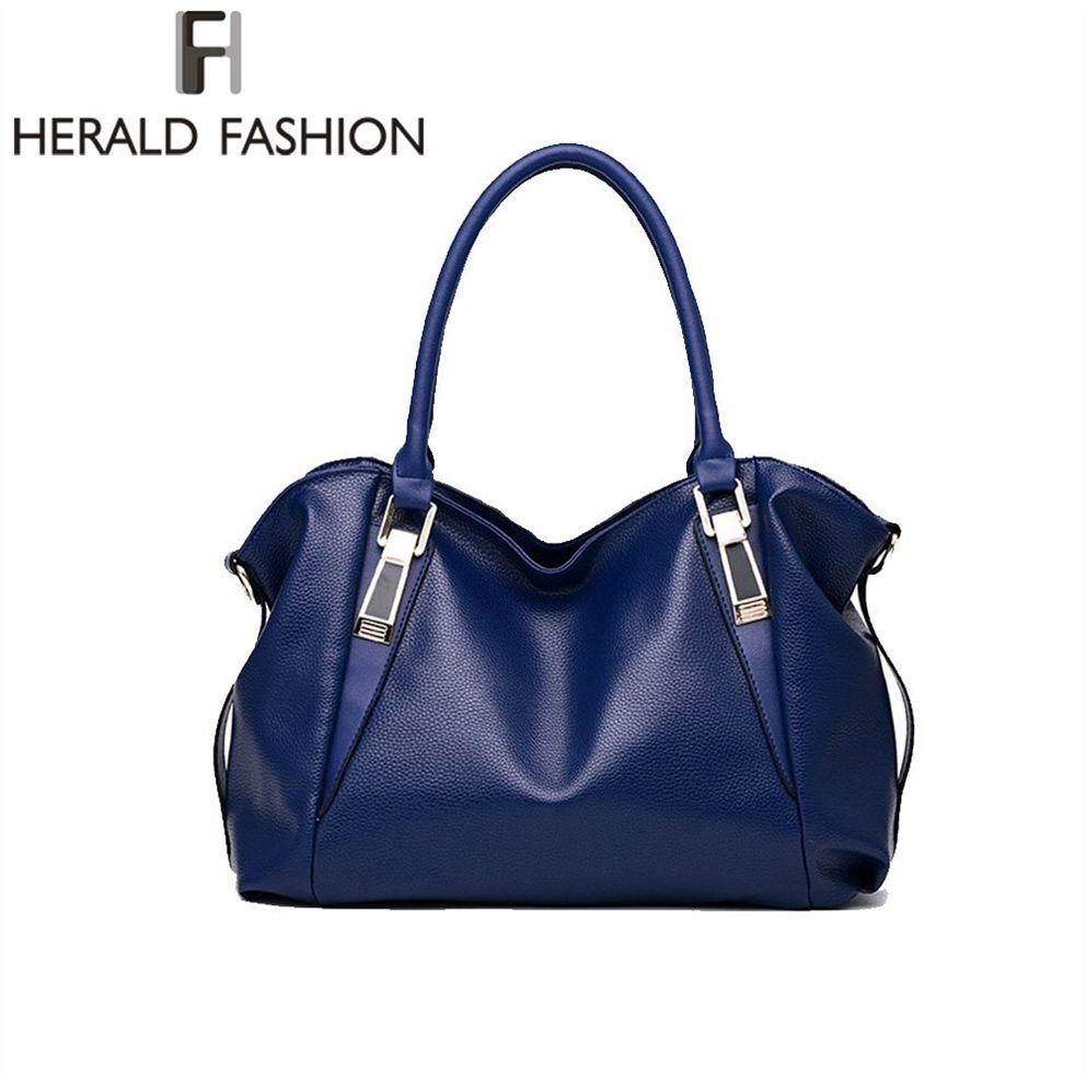 d37e9212c8cb Großhandel Herald Mode Luxus Handtaschen Frauen Umhängetasche Lässig Große  Tragetaschen Hobo Weiches Leder Damen Crossbody Umhängetasche Sac # 34536  Von ...