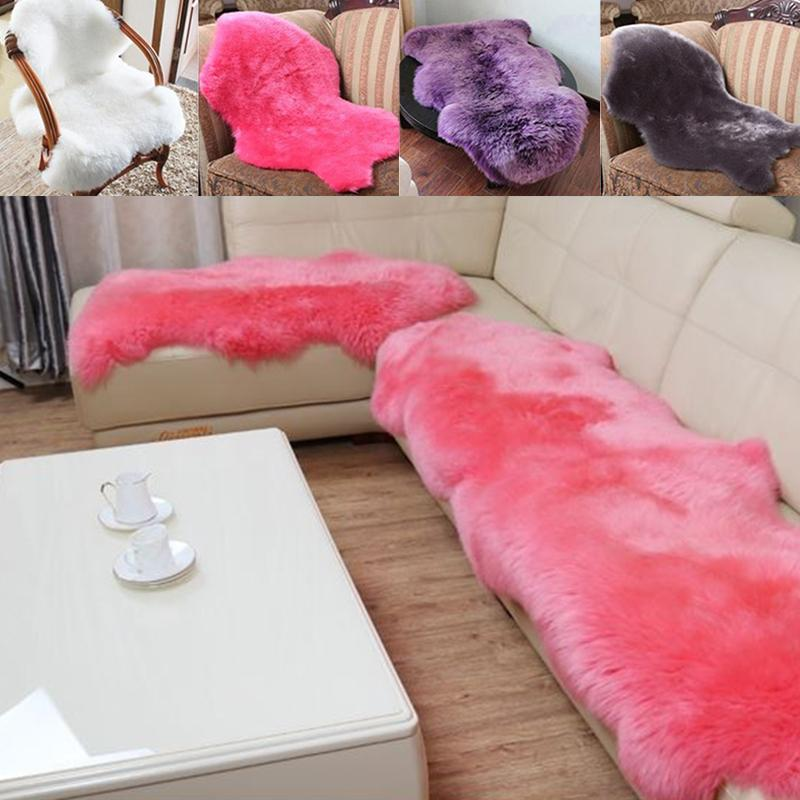 Throw Rugs 2-In-1 HOT Carpet Wool Wool Chair Seat Mat Bedroom