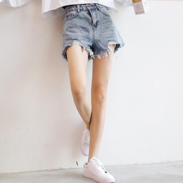 2018 New Arrival Casual Summer Hot Sale Denim Women Shorts High Waists Fur-lined Leg-openings Plus Size Sexy Short Jeans Bottoms