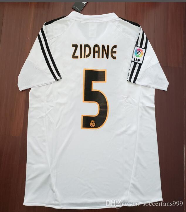 c37e5102831ee 04 05 Real Madrid Soccer Jersey R.Carlos Zidane Raul Ronaldo Figo Owen Guti  Beckham 2004 2005 Real Madrid Vintage Footbal Shirts Soccer Canada 2019  From ...