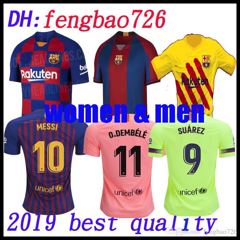 35118753d Compre 2019 2020 Tailândia Qualidade Messi Barcelona Camisa De Futebol 18  19 20 Homens Mulheres Iniesta Suárez MALCOM Dembele Coutinho Uniformes De  Futebol ...