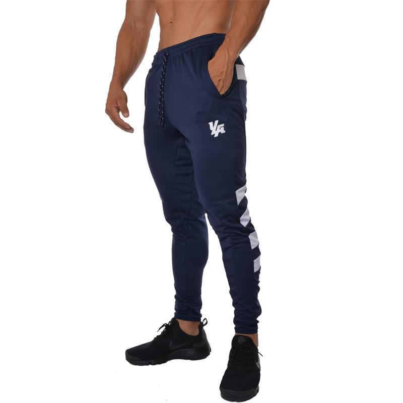 5df054d241 2019 2018 New Men Gym Running Pants Cotton Fitness Clothing Joggers Male  Sweatpants Workout Skinny Trousers Mens Training Sport Pants From Curtainy,  ...