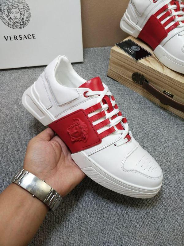 282501 Personality New Breathable Vamp Casual Sports Wild Shoes + White Spell Red Buckles Lace-ups Loafers Drivers Sneakers Shoes