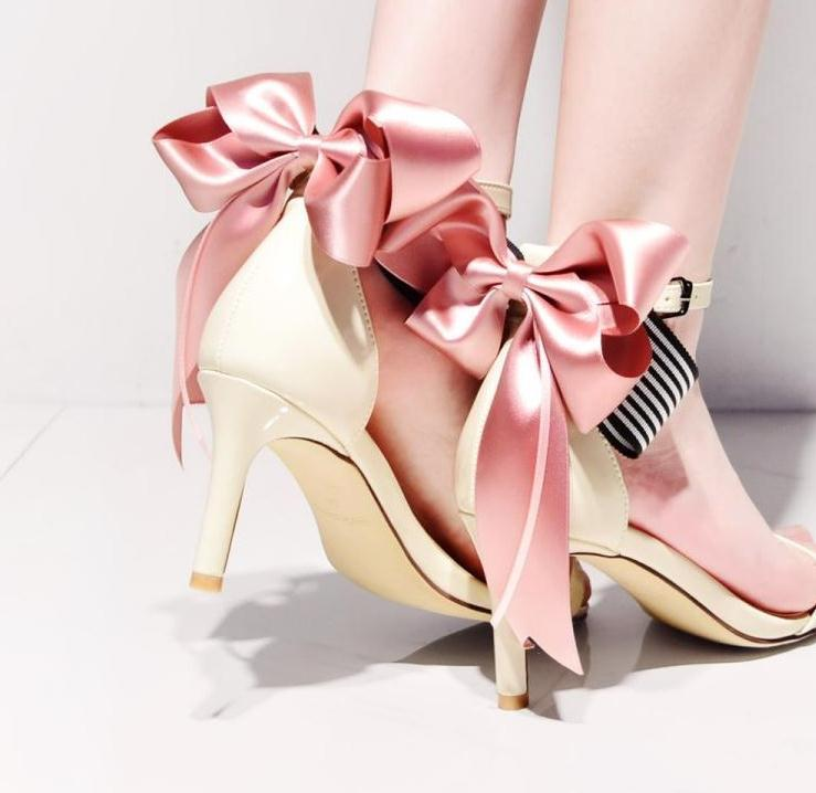Fashionable High Heel Sandals In The Summer Bowknot Of 2018 With A Bow Heel  And Sandals With Red