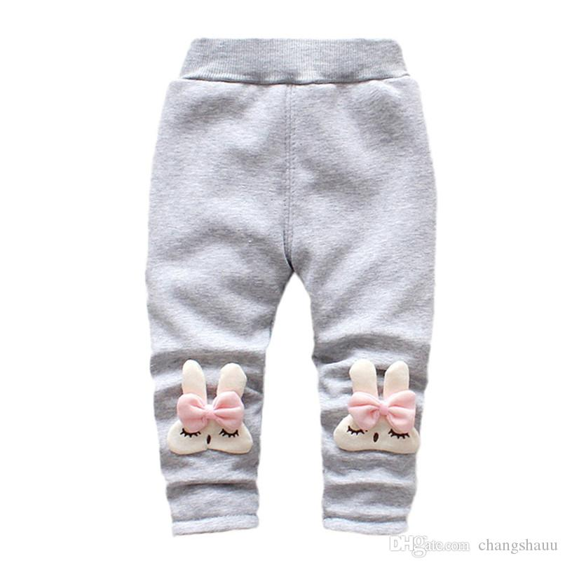 Winter Girls Pants Toddler Infant Baby Girl Cartoon Rabbit Velvet Leggings Trousers Pants Kids Girls Clothes roupa