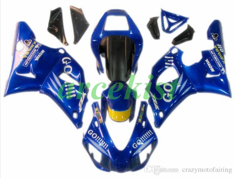 New ABS Motorcycle Full Fairings kit Fit For YAMAHA YZF-R1 R1 1998 1999 98 99 bodywork set Custom Blue Glossy