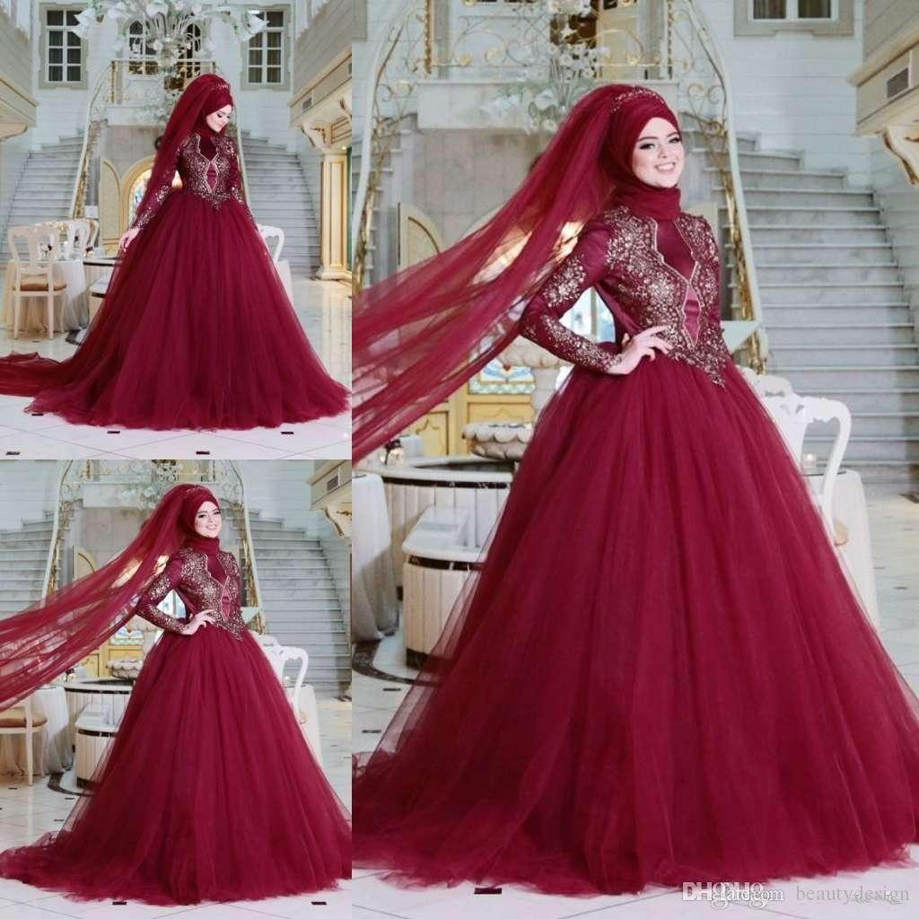 Muslim Evening Dresses 2019 New High Neck Long Sleeves Lace Appliques Formal  Hijab Islamic Dubai Kaftan Saudi Arabic Customized Evening Gown Glamorous  ... 4a0078e39748