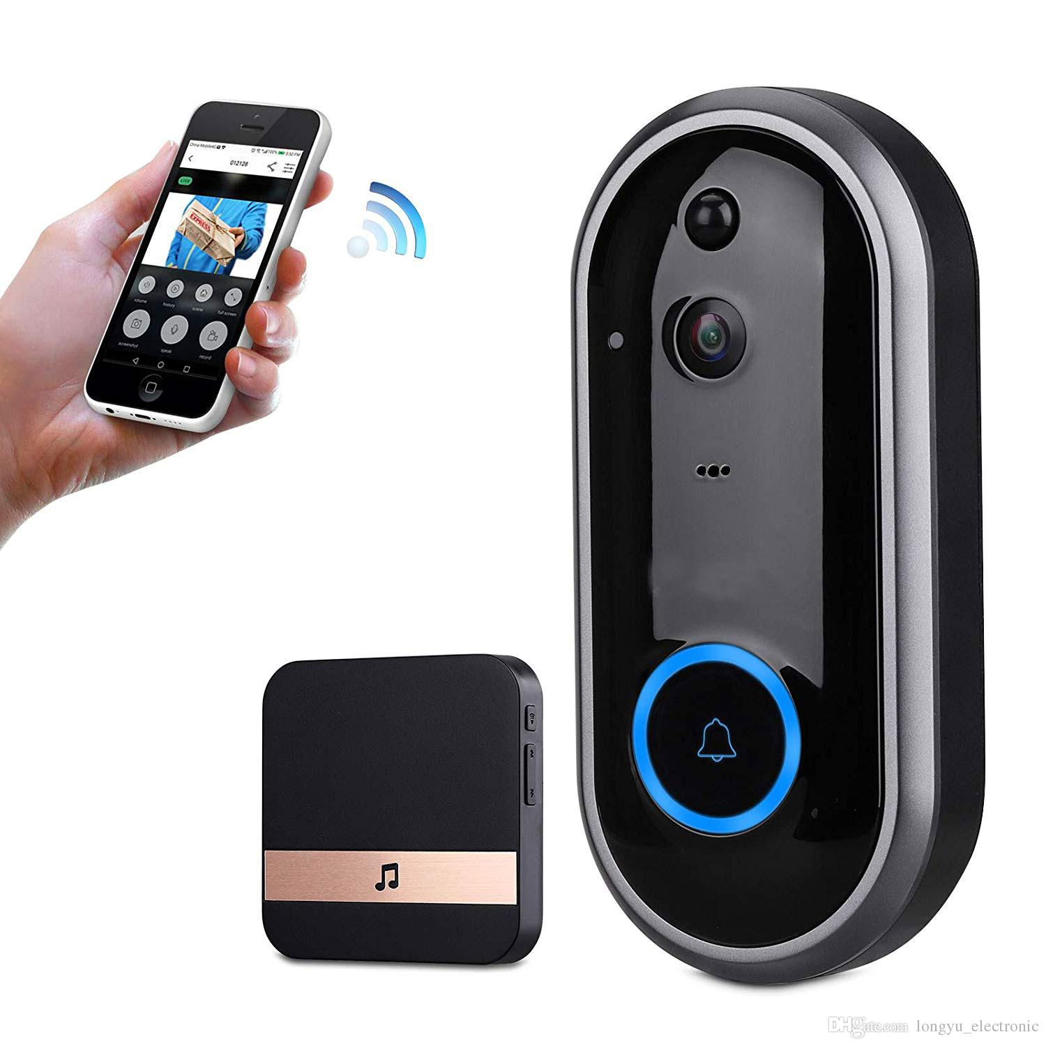 61a8572960b 2019 New Smart Video Doorbell Wireless Home Security Camera With Chime