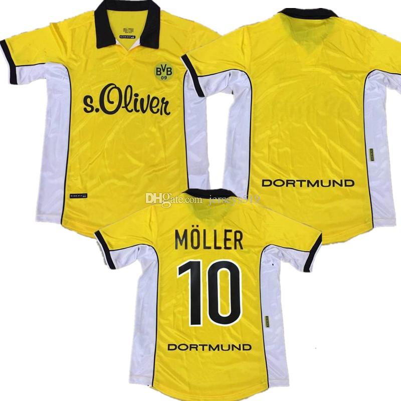 outlet store 5e505 2c5fb Retro Dortmund soccer jerseys 1998 1999 10 MOLLER 9 Chapuisat 11 Herrlich  98 99 Borussia Vintage football shirts Maillot 30 SALOU 18 Ricken