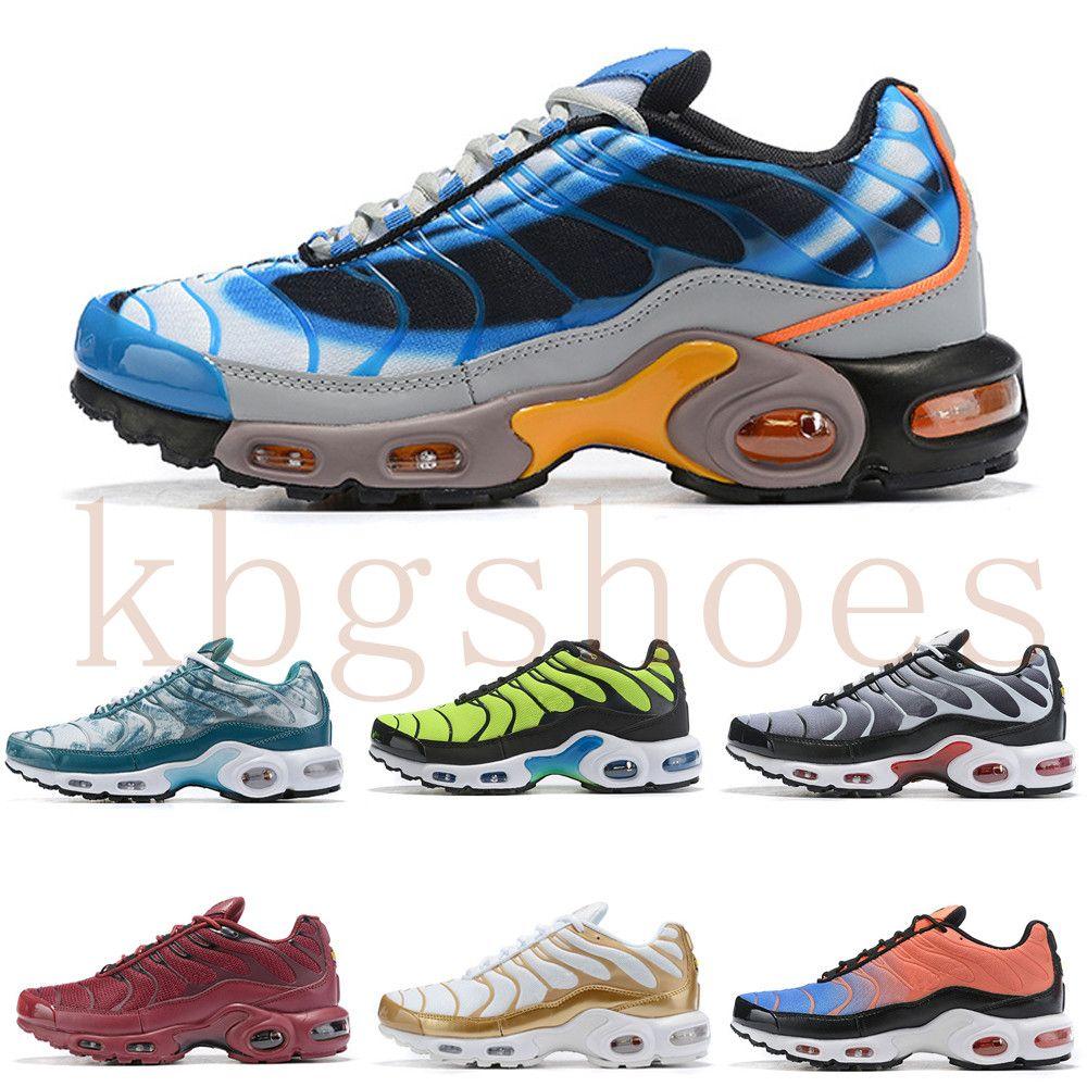 nike TN plus air max airmax 2019 Mens Plus Tn Rainbow Shoes Design Men Air Plus QS Calzado deportivo Barato Tn Requin Chaussures Triple Negro Blanco