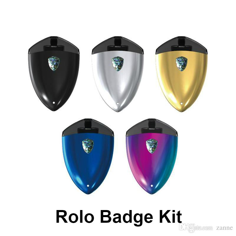 Rolo Badge Kit Rolo Badge Vape Pod System Starter Kit 250mAh 2ml All-in-one Vaping Kit Without Buttons Slot-fill Design DHL FREE