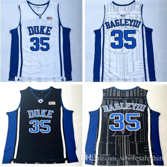 22d4e4f32 NCAA Duke University 35 Bagley III White And Black Embroidered ...