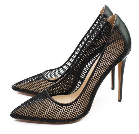 94e7c6c1 Compre Zapatos De Mujer De Marca Suela Roja De Tacón Alto Ahueca Hacia  Fuera Sexy 8.5 Cm 10 Cm 12 Cm Zapatos De Boda Fiesta De Verano Bombas A  $47.76 Del ...