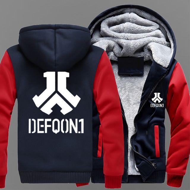 winter Hoodies Defqon 1 Rock Band Hip Hop Thicken Men women Warm autumn  clothes sweatshirts Zipper jacket fleece hoodie