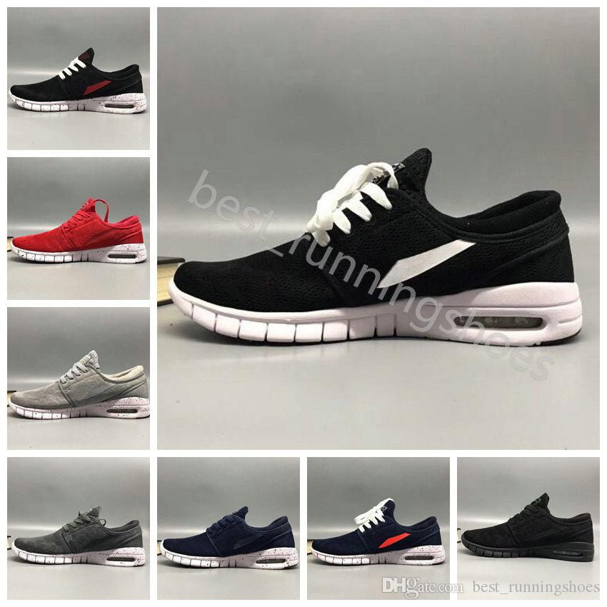 90062a8ae0ca 2019 2018 SB Stefan Janoski Shoes Men Women Running Shoes Maxes High  Quality Athletic Sports Mens Trainers Air Designer Sneakers Size 36 45 From  ...