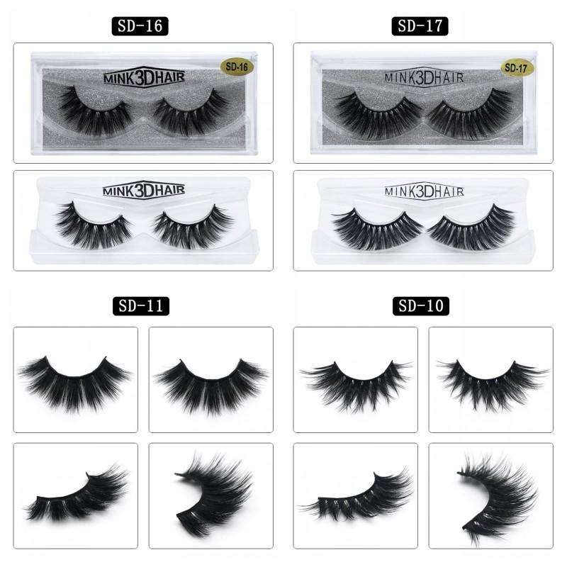 3D Fake Eyelashes Imitation Water Eye Lashes Extension Beauty Makeup Natural Thick Fake Eyelash Mink Hair Eyelash Party Favor 3 75zy
