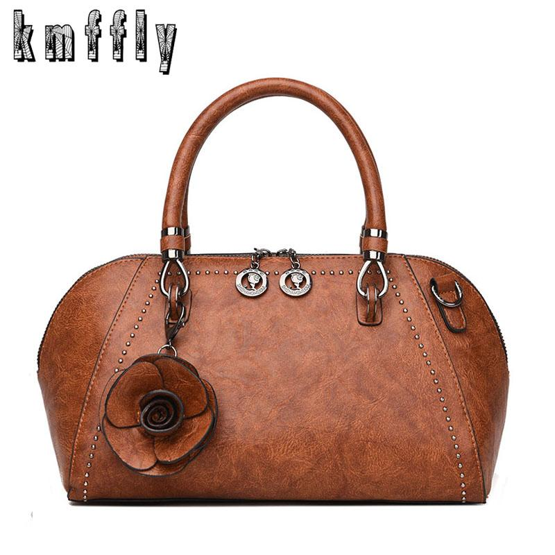 Acquista 2019 Moda Donna Vintage In Pelle Borse A Tracolla Donna Fiori Tote  Bag In Pelle Femminile Signore Borsa A Mano Borse Crossbody Sac A Main A   21.89 ... 7a79f06925b