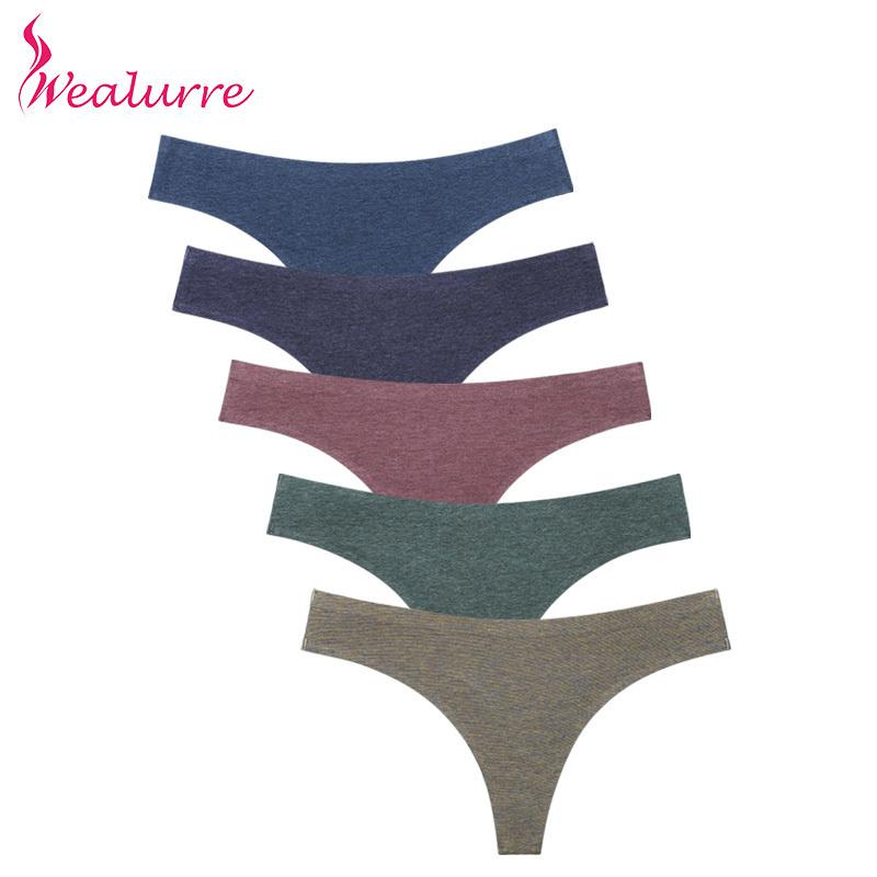 32b1067567e 2019 Wealurre Ladies Sexi Low Waist Tanga Female Invisible Underwear Womens  Seamless Panties Thong Cotton Briefs G String Lingerie C19042101 From  Shen07