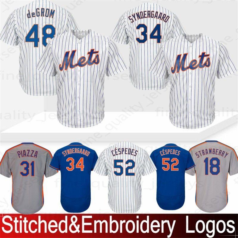 905e9fbbe 18 Darryl Strawberry New York # Mets Baseball Jerseys 48 Jacob ...