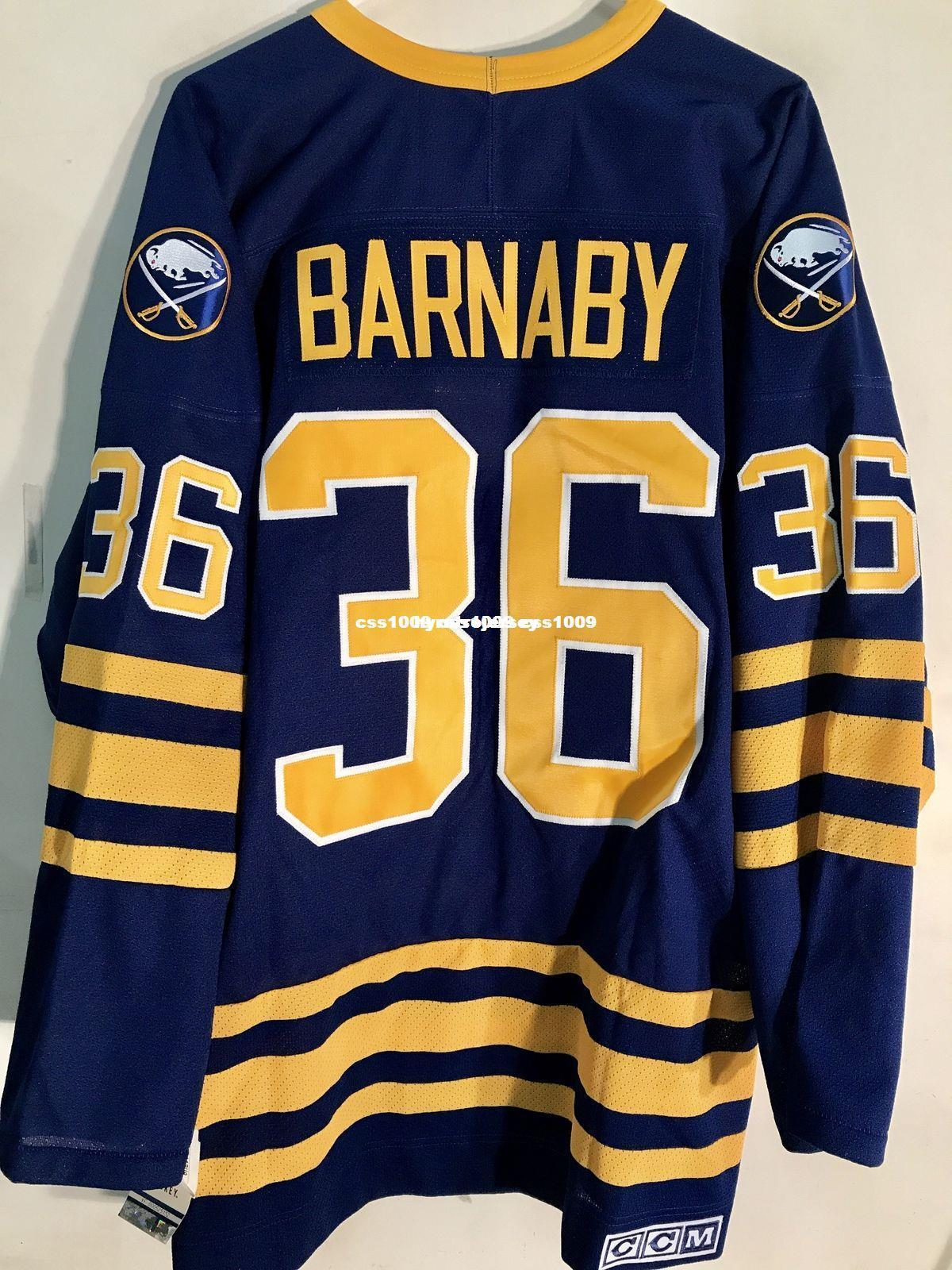 c6279aefc Cheap Custom CCM Buffalo Sabres Matthew Barnaby Blue Vintage Hockey Jerseys  Mens Personalized Stitching Jerseys UK 2019 From Hyretrojersey