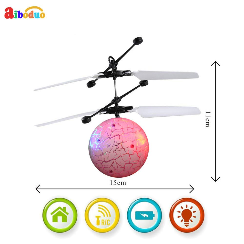 Hot Rc Flying Ball Drone Helicopter Ball Built-in Shinning Led Lighting For Kids Toy Free Shipping17dec18