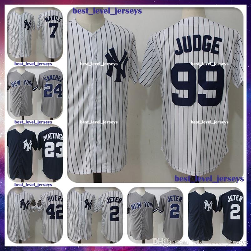 size 40 065f7 d558b 99 Aaron Judge Jersey 2 Derek Jeter 3 Babe Ruth 23 Don Mattingly 24 Gary  Sanchez New York jersey Yankees Majestic Coolbase hot sale