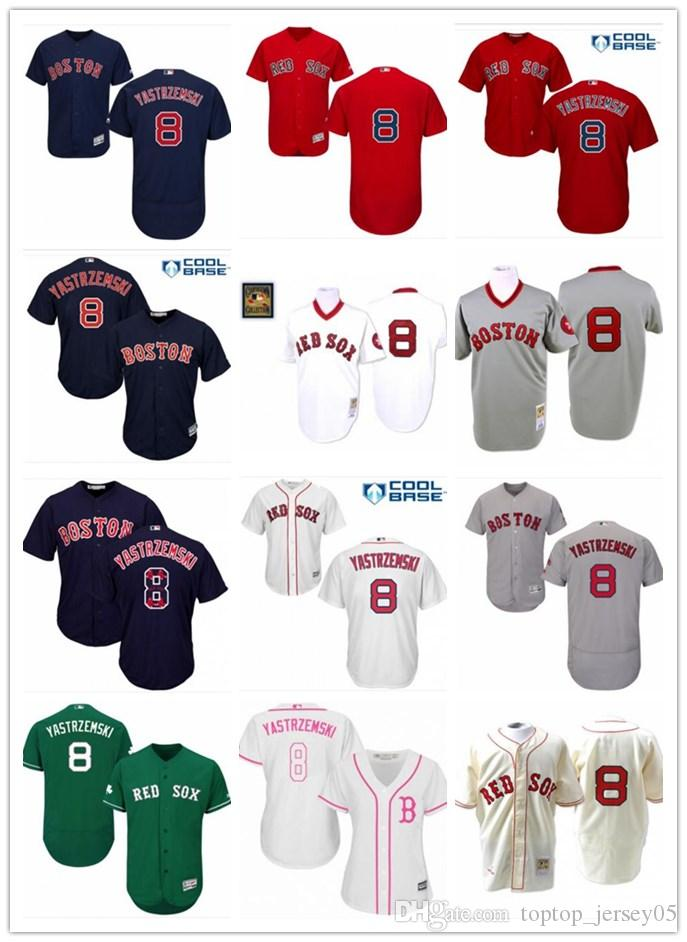 2019 2018 Boston Red Sox Jerseys  8 Carl Yastrzemski Jerseys  Men WOMEN YOUTH Men S Baseball Jersey Majestic Stitched Professional  Sportswear From ... 986cf46069e